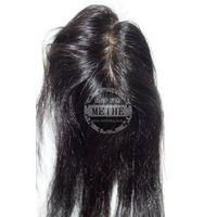 Grade AAA natural straight Indian remy hair No.1# lace with PU women's Toupee
