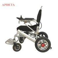 New design lightweight aluminum alloy electric wheelchair folding electric wheelchair with CE&FDA