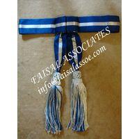 Sash Crimson Officers Ceremonial Belt With Tassels