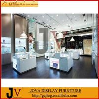 Modern wall showcase standing jewelry store cabinet design in customized