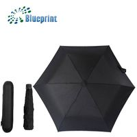 Black EVA case commercial promotional 3 folding umbrella