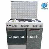 White cold plate free standing gas oven with gas bottle