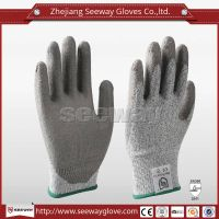 SeeWay B510 High Strength HHPE Glove Cut Resistant PU Coated Safety Working Gloves