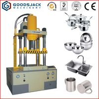 steel metal kitchenware 4 column pillar hydraulic press machine