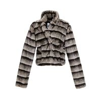 ladies' oem faux fur coats supplier