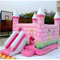 High Quality PVC Inflatable Pink Bouncer For Kids