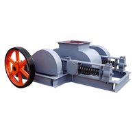 High crushing quality double toothed roll crusher for stone making processing