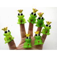 frog finger puppets