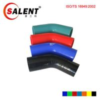 SALENT ID 102mm-76mm 3 ply 45 90 degree silicone elbow reducer tube hose