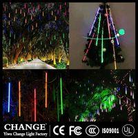 LED Meteor Shower Rain Tube Garland Holiday Christmas Tree Snow Decorative Outdoor Fairy String Lamp thumbnail image