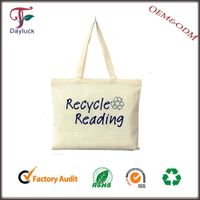 Recycled woven fabric shopping bags