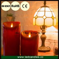Hot Selling Flamelss Rechargable Wax Dripping LED Candles Set of 2