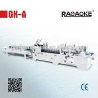 GK-650A staight line box folding gluing machine