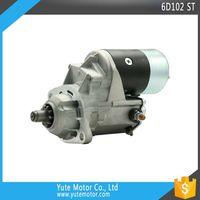 YTM 6D102 24V 10T 4.5KW truck exvacator auto starter motor for PC200-6