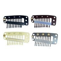 Hair Extension Clips Snap Metal Clips With Silicone Back For Clip in Human Hair Extensions Wig Comb
