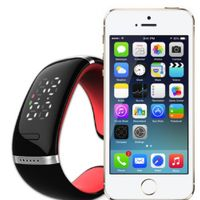 L12 New Fashion Wireless Smart Bluetooth Bracelet Bluetooth Car Kit Handsfree Watch Gray/Orange/Red/