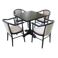 Square table and 4 upholstered carver chairs thumbnail image