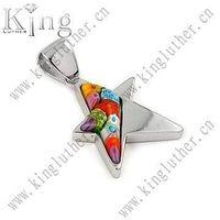 925 murano glass star pendant