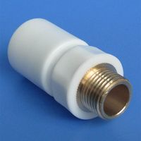 """1/2"""" 3/4"""" 1"""" copper male coupling, PPR pipe quick connector, environment friendly"""