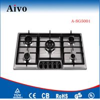 2015 Hot sale gas stoves spare parts/ small kitchen stainless steel design gas hob/Built in Gas Hob