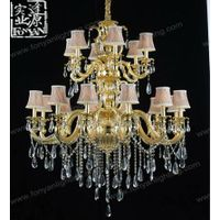 Wholesale new design modern crystal chandelier with silk shade