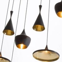 Modern Chandelier Tom Dixon Beat Pendant Lamp Designer Hanging Lighting Aluminium Pendant Light E27