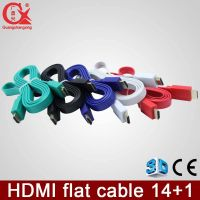 HDMI 1.4v copper material colorful flat cable 1.5m