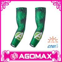 Custom printed outdoor sports compression cooling arm sleeves