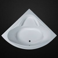 Acrylic triangle bathtub