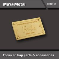 high quality garment metal tag accessories