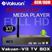 Qual core Allwinner A20 android tv box HD XBMC TV box 1080P media player hd