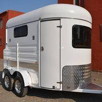 2 horse angle load transport trailer for sale
