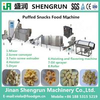 Twin screw automatic puff food extruder/puff food machine
