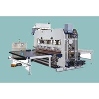 short cycle laminating hot press production line
