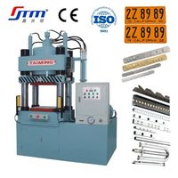 Metal license plate making hydraulic molding cutting stamping press machine