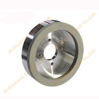 Vitrified bond grinding wheel for marching PCD&PCBN tools