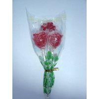 rose-shaped fruity lollipops