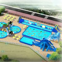 Easy move ground inflatable slide pvc material inflatable water park rides thumbnail image