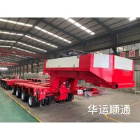 heavy duty modular semi trailer 100tons 200tons multi axle hydraulic low bed truck trailer for sale