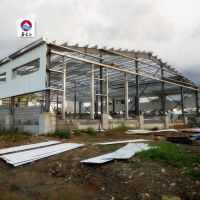 Prefab H Steel Structure Poultry Farm Shed Chicken house for Fryers meat chicken thumbnail image