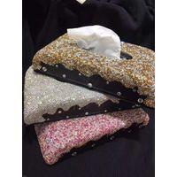 Handmade Crystal Rhinestone Diamond Paper Towel Holder Napkins Case Tissue Box