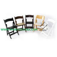 Restaurant Furniture Type and Restaurant Set Specific Use Solid Wood Folding Chair