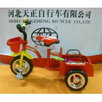 Chinese manufacture two seat kids tricycle thumbnail image