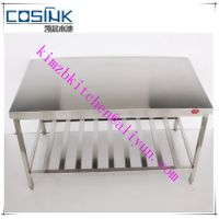 Durable stainless steel bench