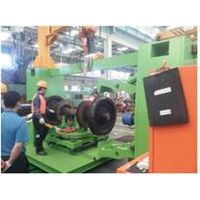 Rail way wheel hub automatic assembly