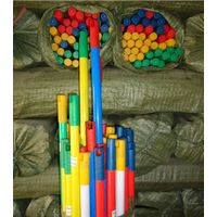 pvc coated wooden broom stick