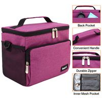 Reusable Insulated Cooler Lunch Bag - Office Work School Picnic Hiking Beach Lunch Box Organizer wit thumbnail image