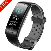 Q8T Temperature Measurement Smart Band heart Rate Monitoring Sports Smart Watch
