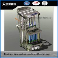 Small Mandrel Vibration Concrete Pipe Making Machine