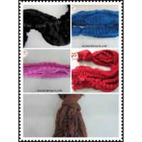 3D colored Recycled or virginal polyester tow& fiber for yarn